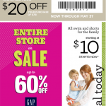 Gap Outlet $20 off of $75 Deal Ends May 31