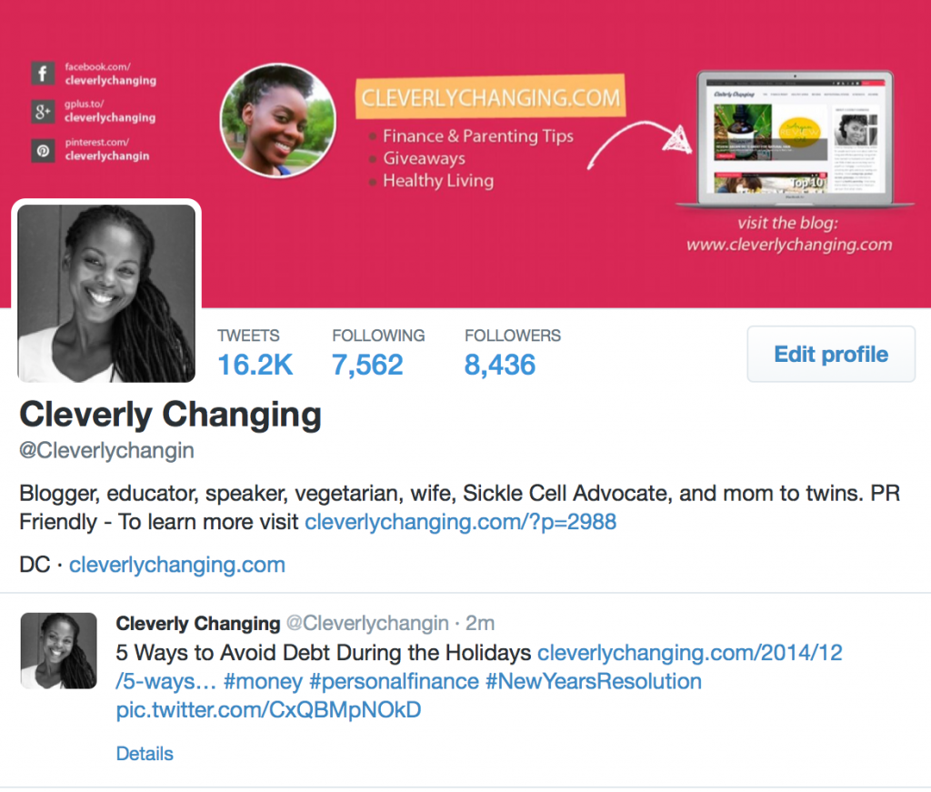 Cleverly Changing on Twitter (@CleverlyChangin)