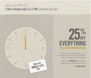 Great Frugal Deal Today @TheLimited 25% off from Noon-2pm