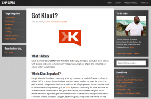 The Buzz about Klout