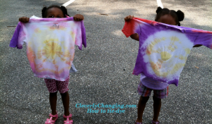 Kids Activity Tie-dye Shirts