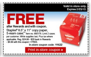 Free until February 23, 2013 at Staples