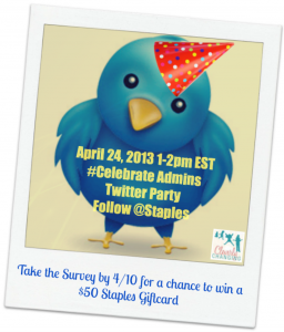 Staples CelebrateAdmin Twitter Party