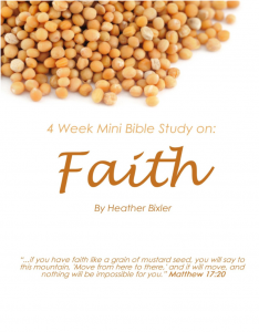 New Kindle Ebook about Faith by Heather Bixler