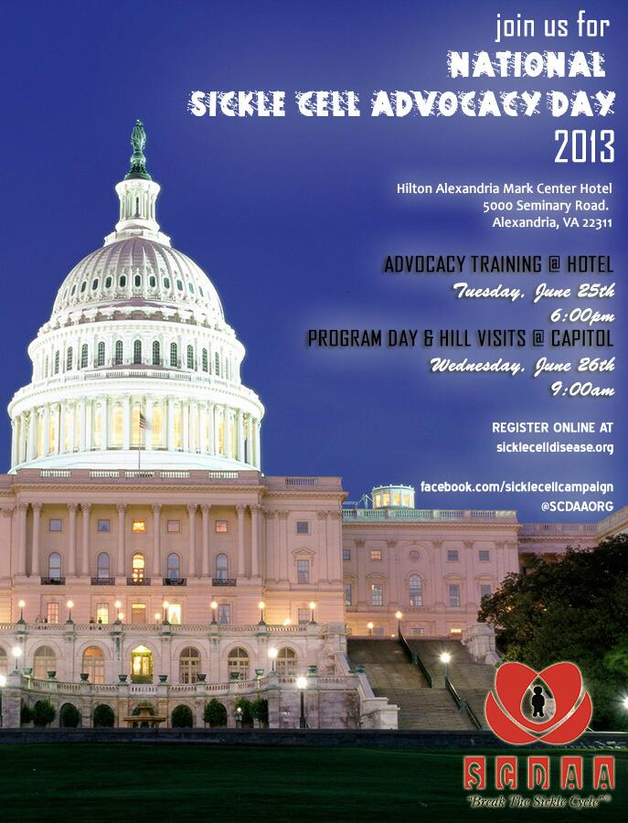 National Sickle Cell Advocacy Day 2013 – June 25 and 26