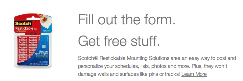Free Scotch Restickable Solutions Sample  – First 10,000