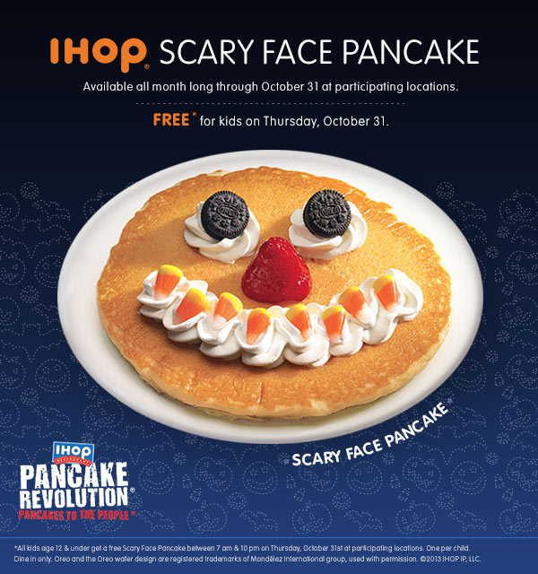 FREE Pancakes for Kids at IHOP #PancakeRevolution