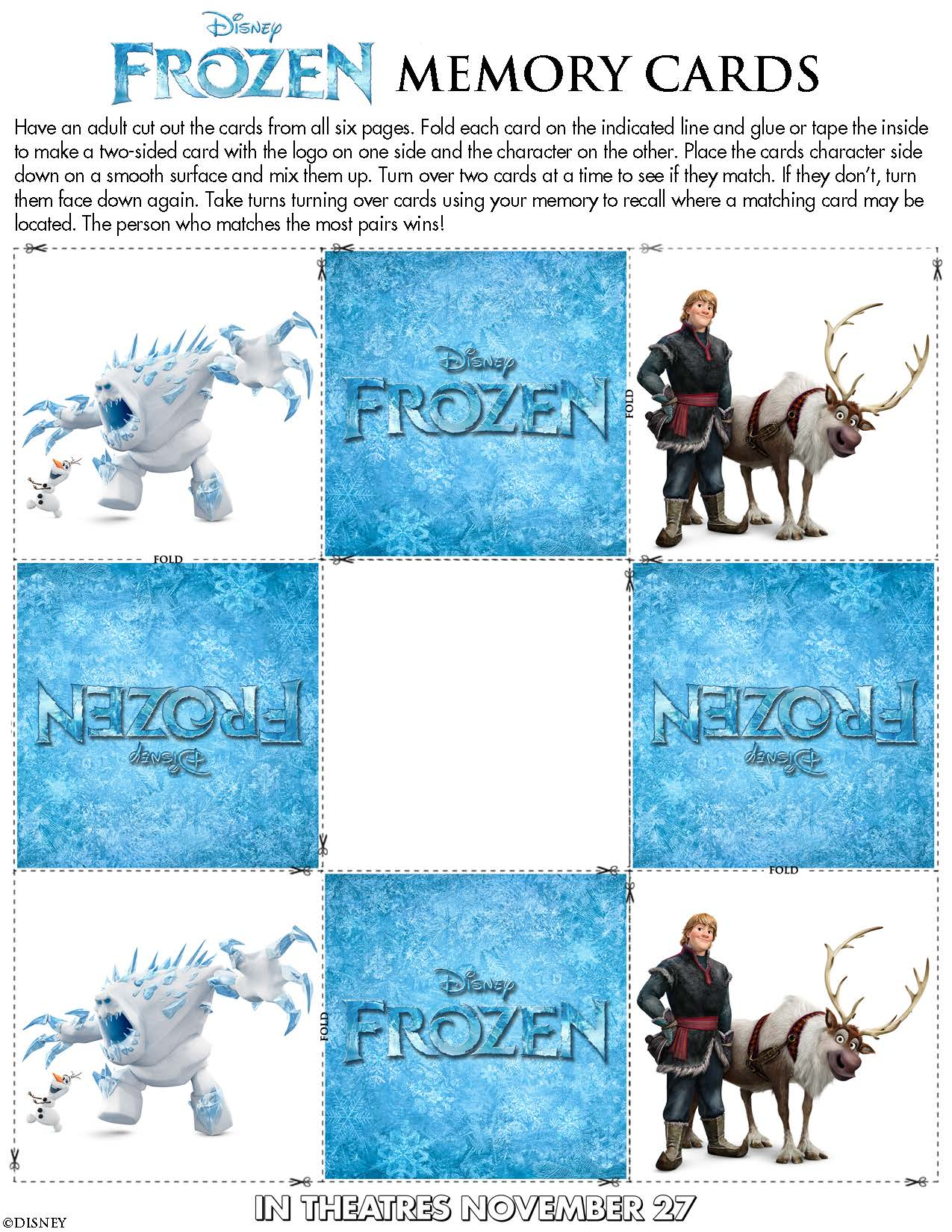 Disney\'s Frozen Activity Pages - Cleverly Changing