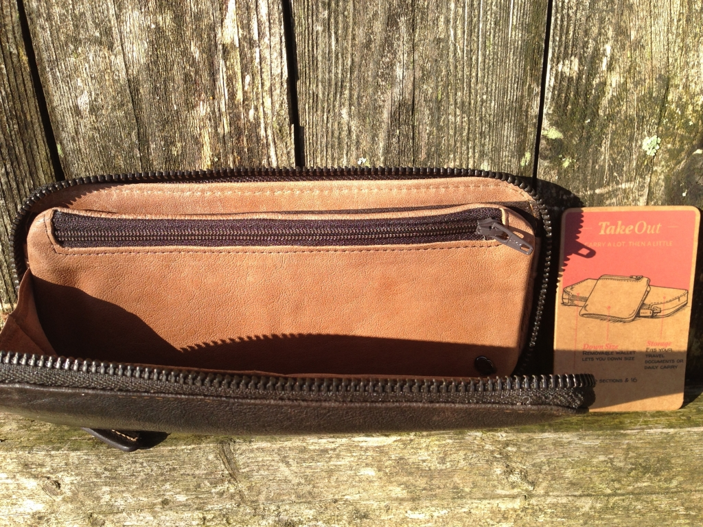 Bellroy - Take Out Wallet in Brown Java Leather zipper