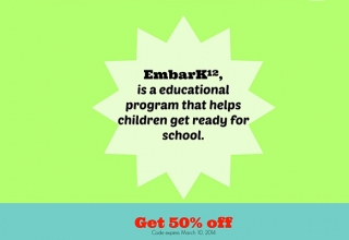 EmbarK12 for Preschool Learners – Coupon Code Enclosed