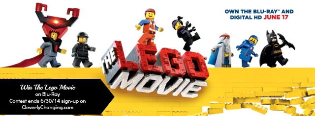 Win The Lego Movie  on Blu-Ray Contest ends 6/30/14 sign-up on  CleverlyChanging.com