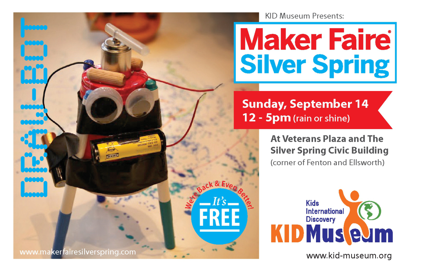 Free Kid Friendly Event Maker Faire Silver Spring