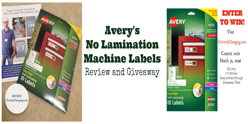 Avery labels #review and #giveaway