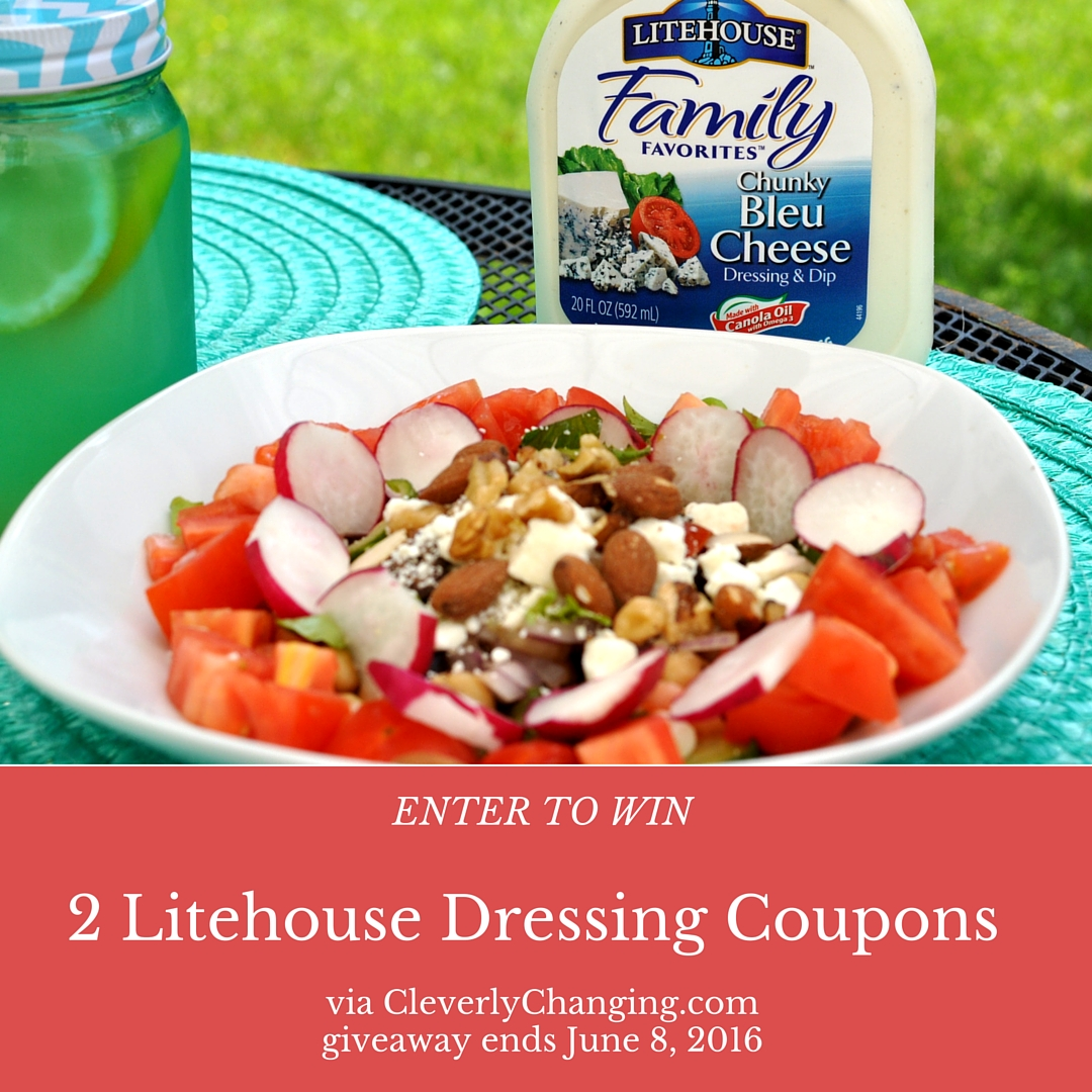 Litehouse Dressing Giveaway 2 full size product giveaway via @CleverlyChangin