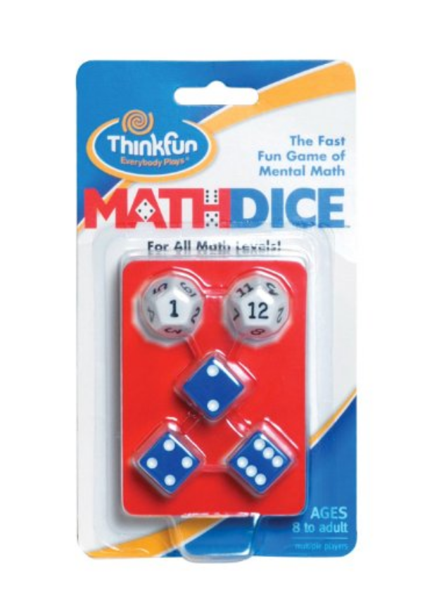 Math Dice for kids ages 8 and up via @CleverlyChangin