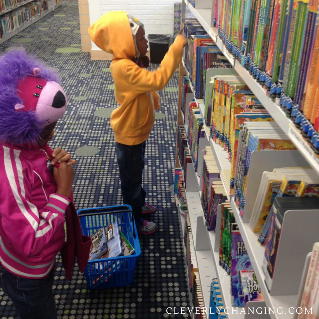 Visit a library from CleverlyChanging's Homeschool on a budget series