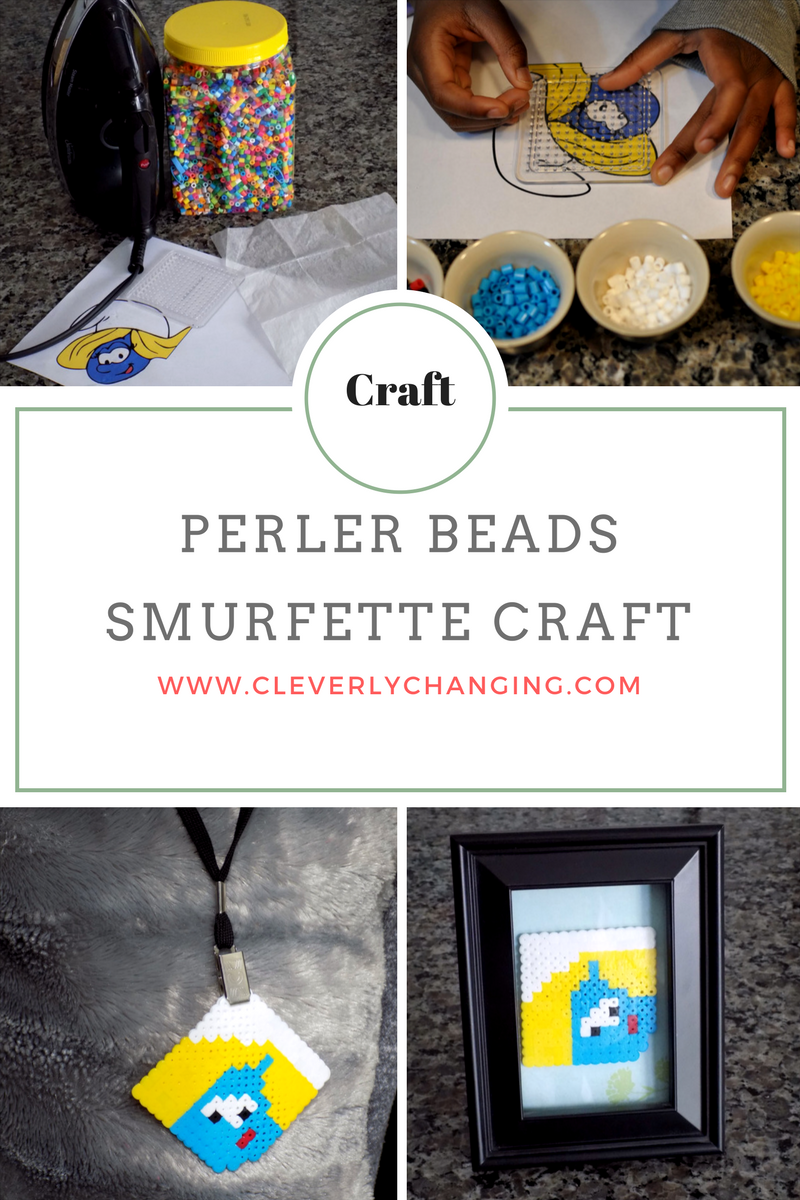 DIY Perler Beads Smurfette Kid-friendlyCraft
