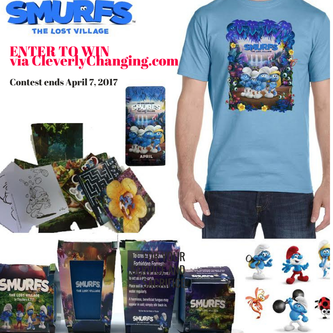 Win Smurfs Swag (from the movie - Smurfs: The Lost Village)