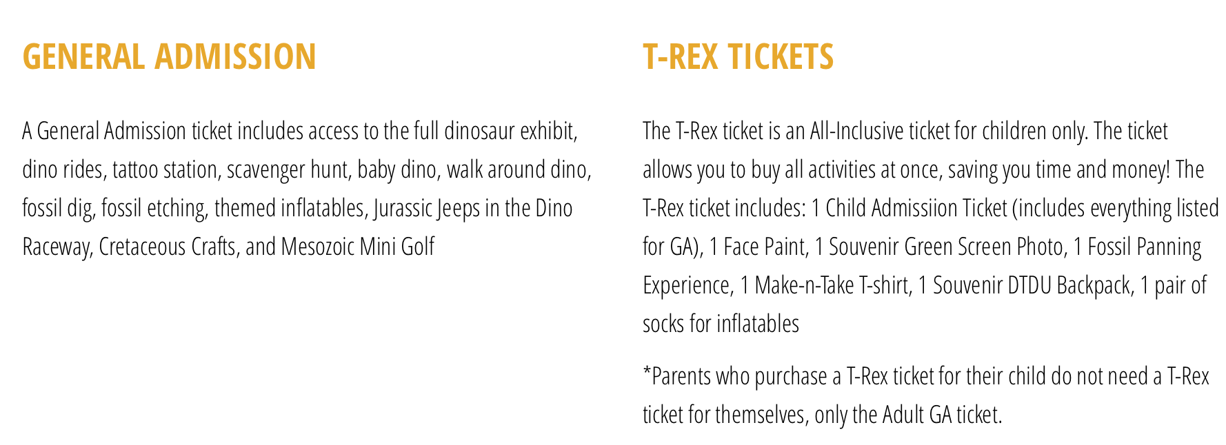 Discover the Dinosaur Ticket Info Discount code within post
