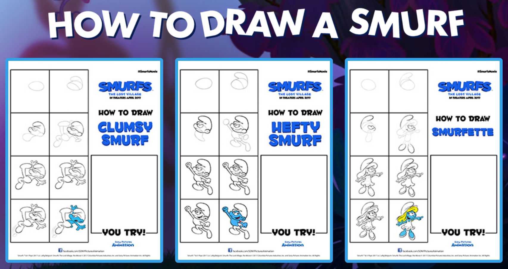 Smurfs The Lost Village Drawing Tips