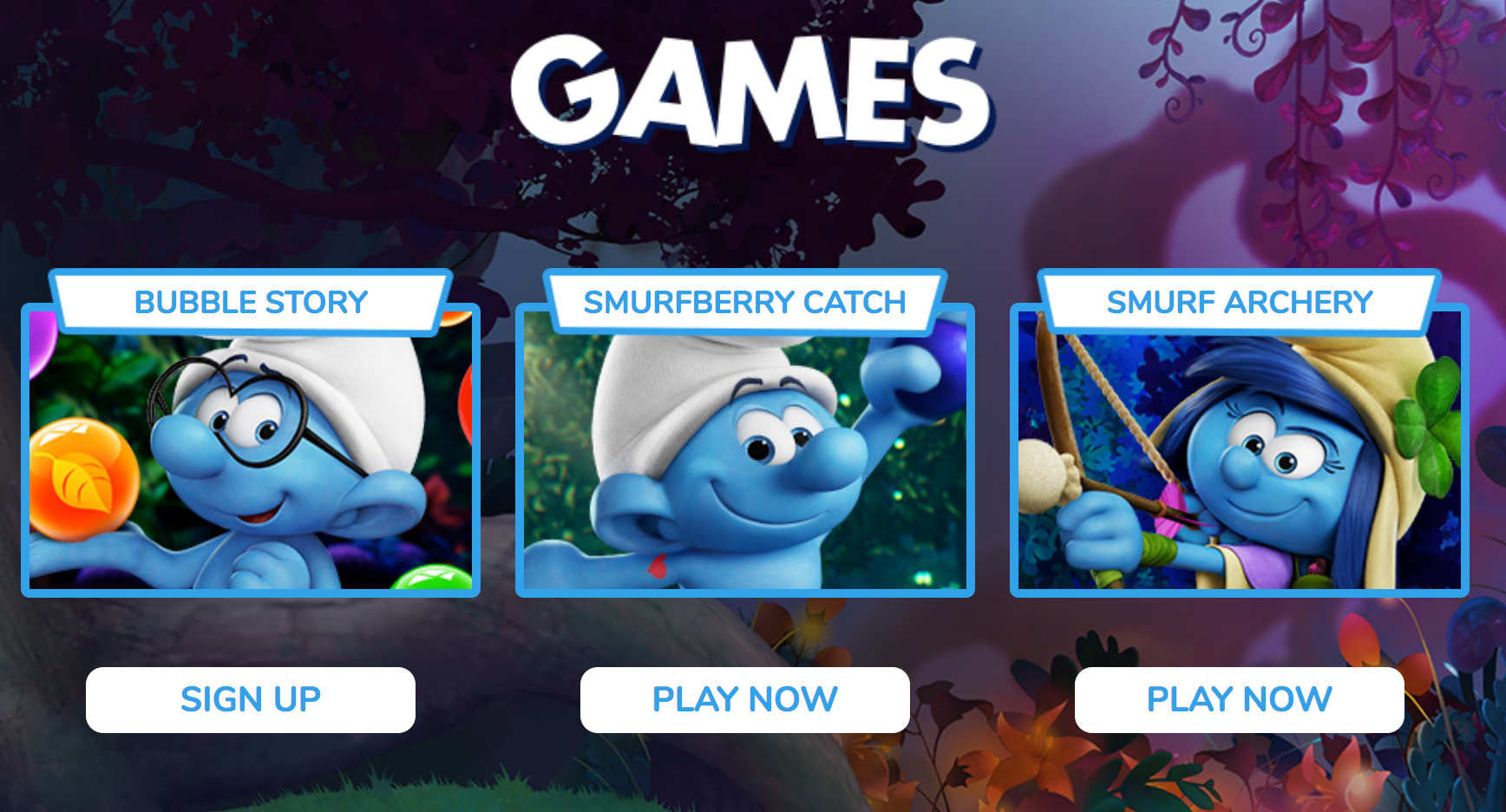 Smurfs The Lost Village Games
