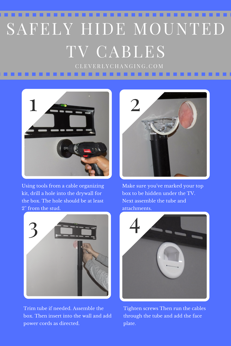 Safely Hide Mounted TV Cables