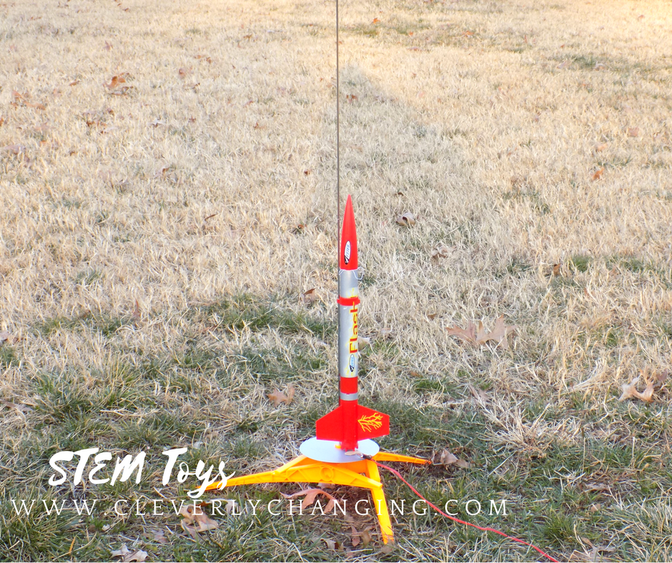 At home model rocket, STEM activity for kids