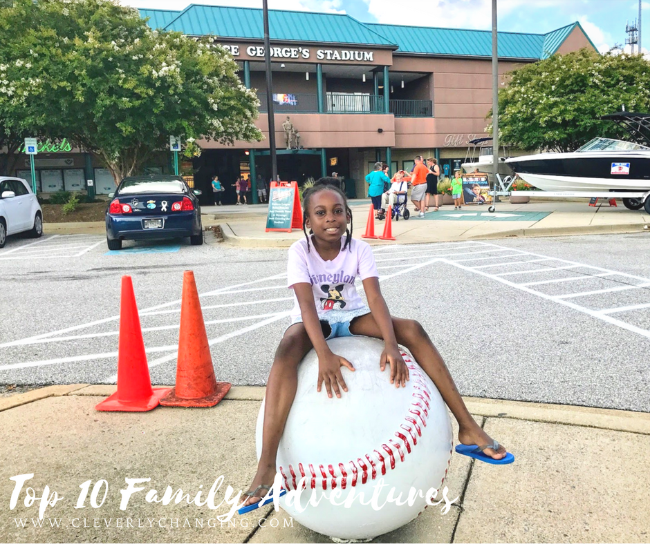 Kid visiting the Bowie Baysox game: Top 10 Family Homeschool Adventures