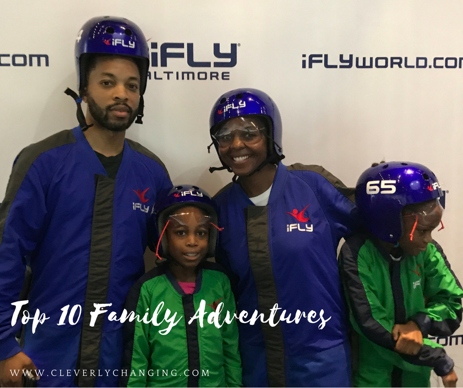 Family visiting iFly in Baltimore: