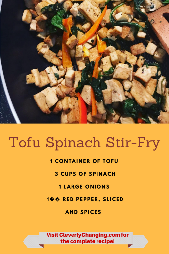 Tofu and Spinach Stir-fry #vegetarian #vegan
