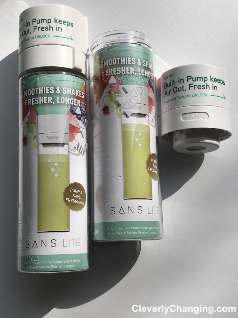 AD Give your day a healthy start using a SANS Air Bottle It will keep your smoothie fresher longer