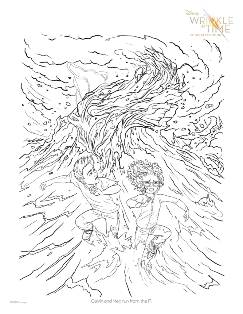 AWrinkleInTime_Running from the IT Printable Coloring Pages for A Wrinkle in Time Fans