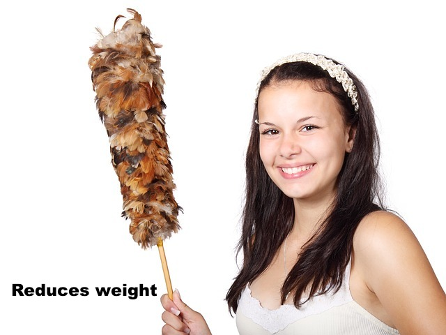 Helps burn calories and reduce weight