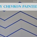 Get Kids Involved! DIY Chevron Painted Walls