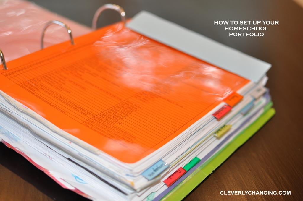 How to set up a #homeschool #portfolio.