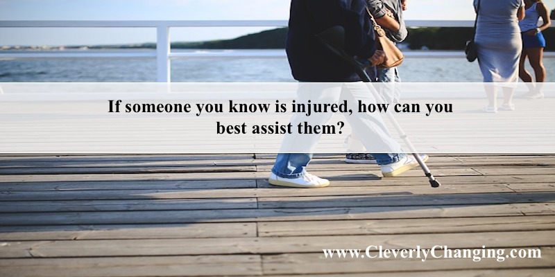 How can you help someone who is injured?