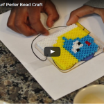 DIY Perler Beads Smurfette Craft