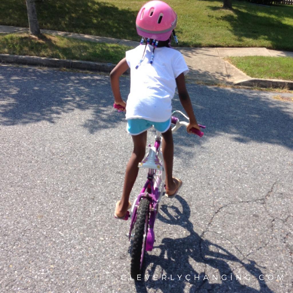 kid biking