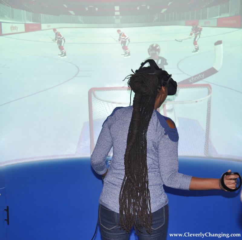 Hockey Virtual Reality Game at Studio Xfinity in DC