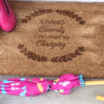 Review: Personalized Doormat for Spring
