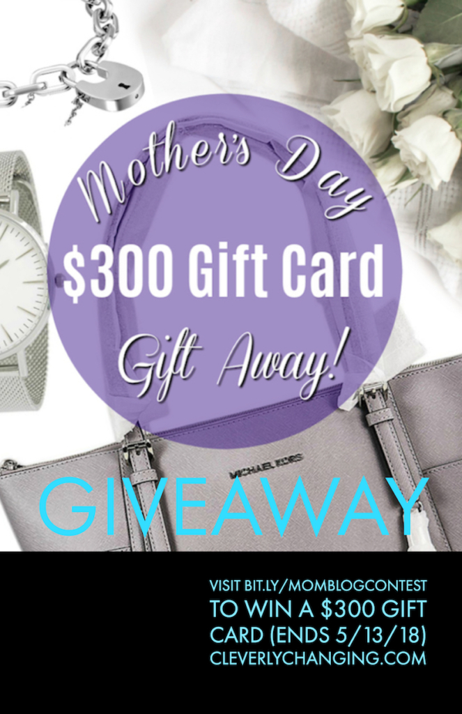 Mothers Day Blog Contest on Cleverlychanging.com #moms #momlife #MothersDay #giftideas