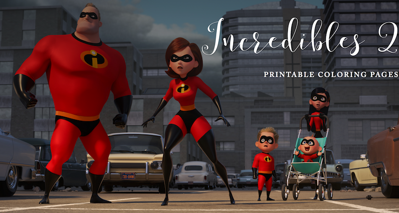 Incredibles 2 Printable Coloring Pages Incredibles2 Cleverly Changing