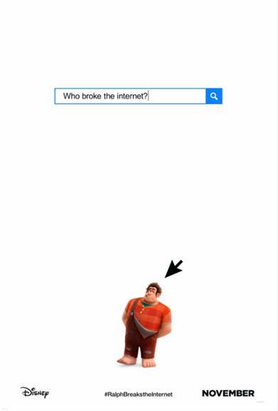 Ralph Breaks the Internet Movie Poster Wreck It Ralph 2