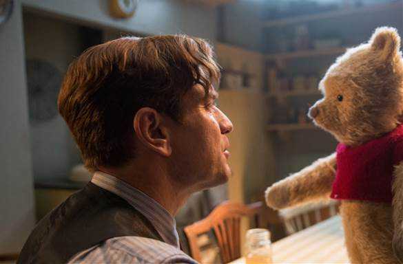 Ewan McGregor as Christopher Robin with Pooh