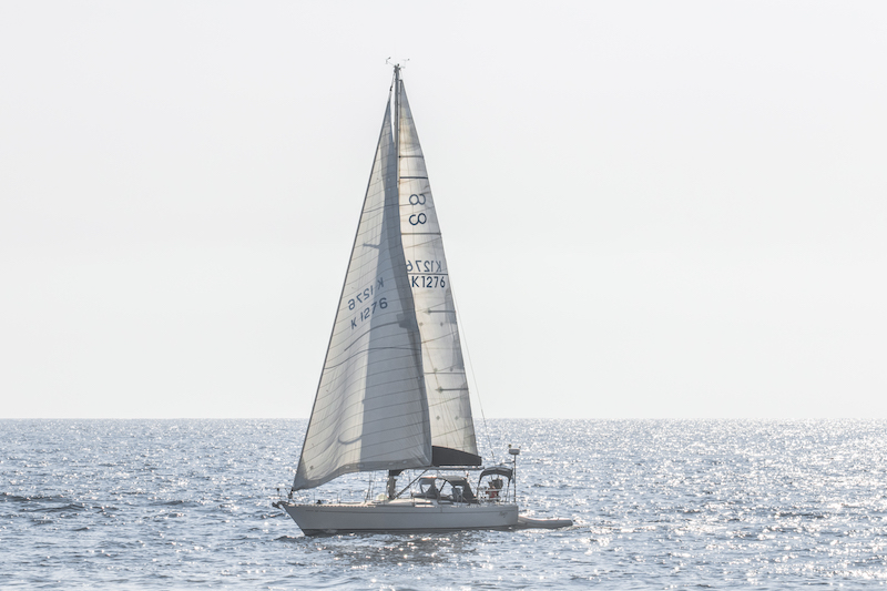 sail boat in the pacific ocean