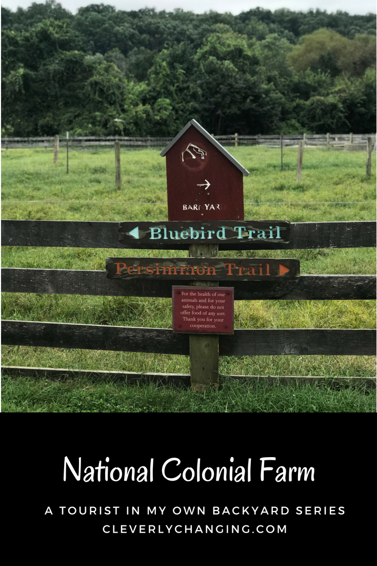 Bluebird trail sign near the National Colonial Farm