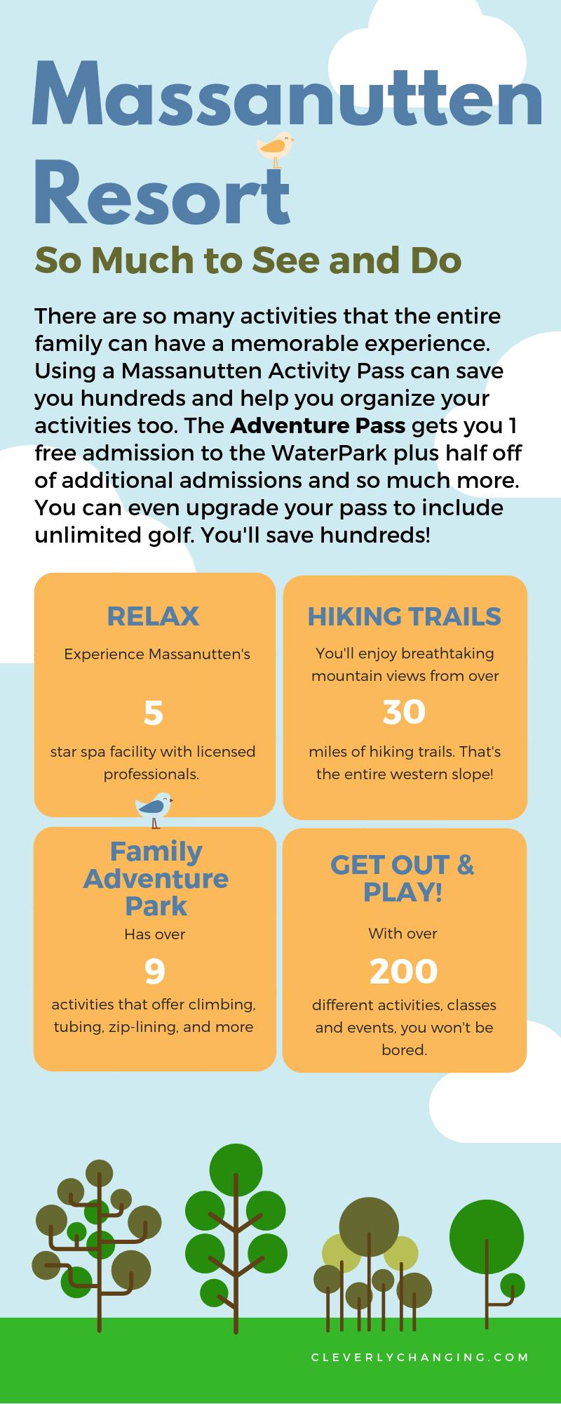 Massanutten Resort Entertainment Infographic