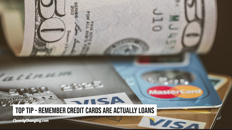 Remember credit cards are loans