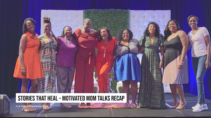 Motivated Mom Talks - 9 African American women standng side by side
