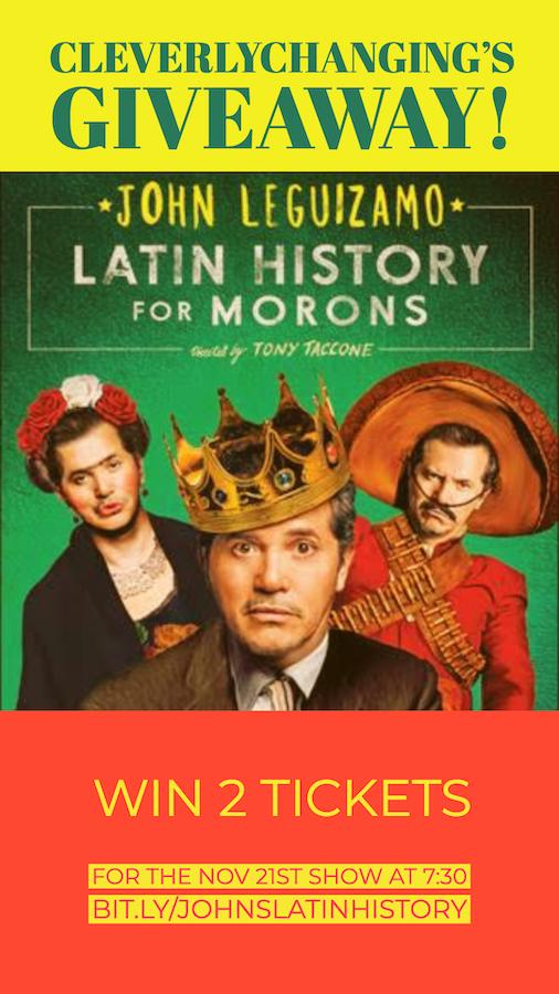 John Leguizamo Latin History for Morons - Giveaway